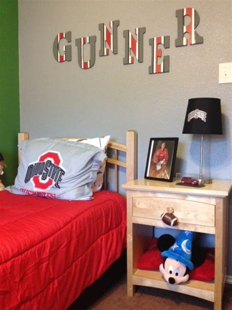 ohio state bedroom gunner s ohio state bedroom makeover just marla