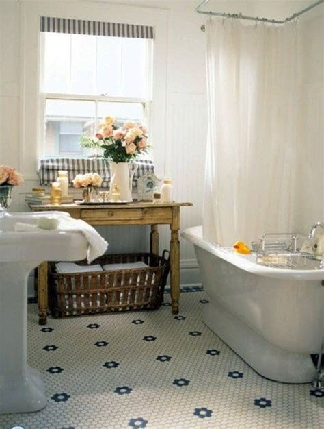 Vintage Black And White Bathroom Ideas 35 Vintage Black And White Bathroom Tile Ideas And Pictures