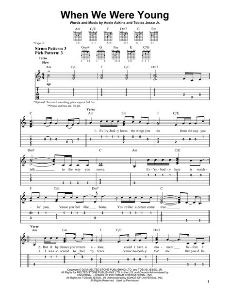 download song when we were young by adele in mp3 when we were young partition par adele tablature guitare