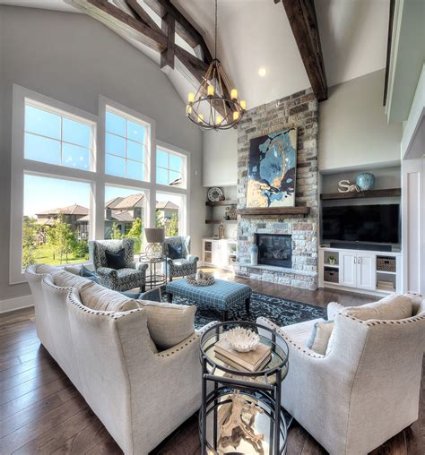 living room stone fireplace floor  ceiling fireplace