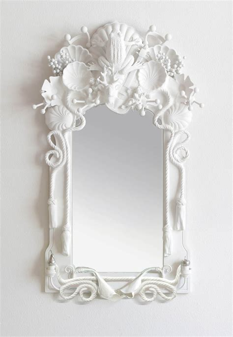 Shell Bathroom Mirror - design foraging objet trouve by codor designs artsy forager