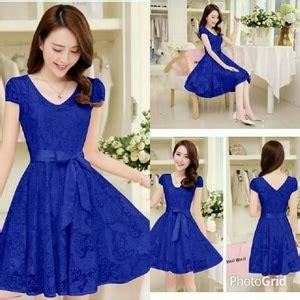 Benhur Fashion Dress Bagus Murah baju mini dress pendek bahan brukat pesta fashion wanita
