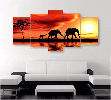fotos en cuadros cuadros decorativos moderno de 5 secciones de 115x50 cms