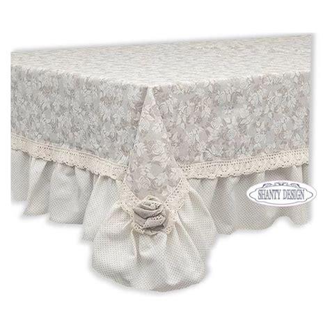 cuscini stile provenzale tovaglia roses shabby chic biancheria cucina tovaglie