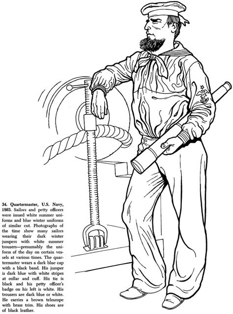 civil war uniform coloring pages