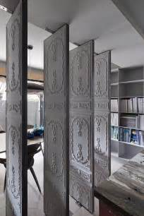 Wall Dividers For Rooms by Embossed Room Dividers Interior Design Ideas