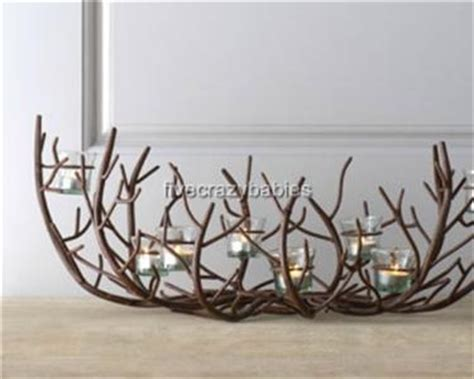 Large Iron Twig Branch Centerpiece Candle Holder Tea Light Twig Candle Holder Centerpiece