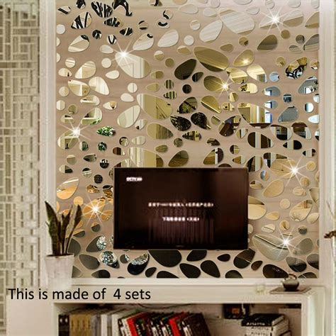 pcsset  diy wall sticker decoration mirror wall