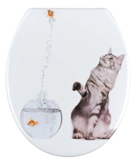 wenko toilet seat duroplst cat fish jumping motif ebay