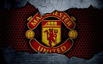 wallpapers manchester united  logo metal