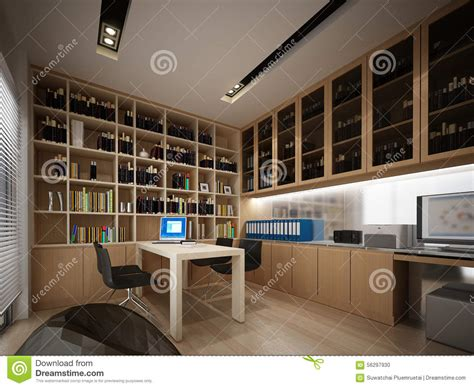 study room interior design 3d rendering view 3d house 3d render study room stock illustration image 56297930