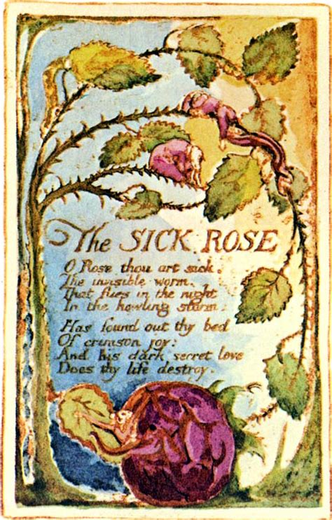 theme sick rose william blake wordy wednesdays william blake crazy poet part 1