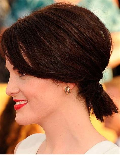 ponytail on top short on sides 12 best images about ponytails for short hair on pinterest