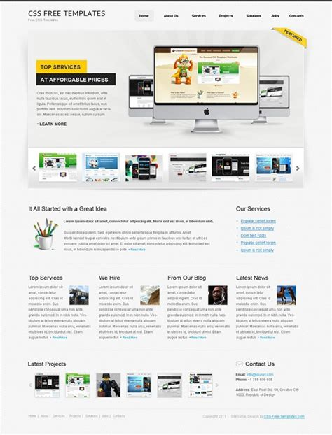Free Website Css Template For Personal Portfolio Website Css Templates Free Portfolio Website Templates Html