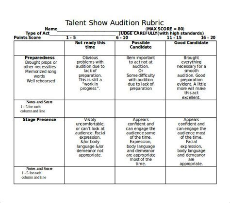 Film business plan template how to write a film business plan talent show score sheet 8 free samples examples formats accmission Choice Image