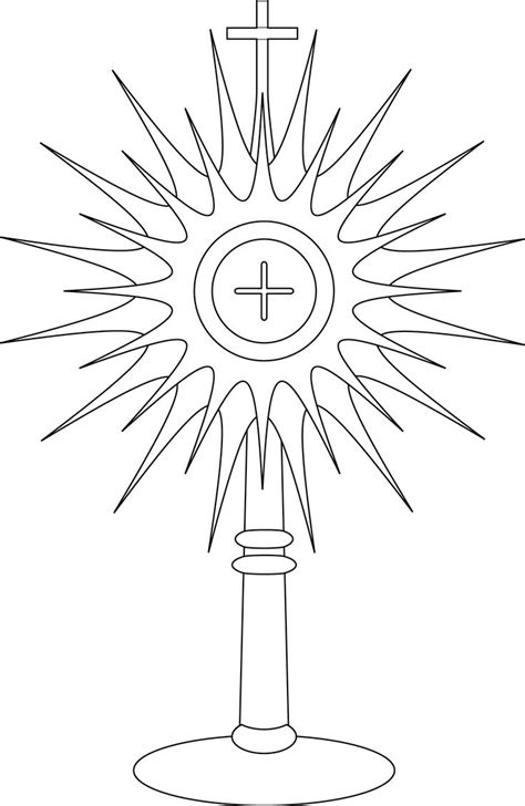 catholic coloring pages eucharist monstrance coloring page google search line drawings