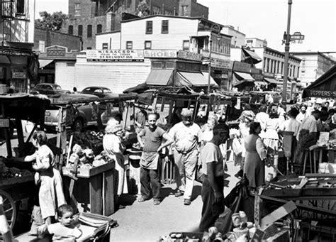 williamsburg 50s new york city belmont av pushcart market brownsville brooklyn 1950