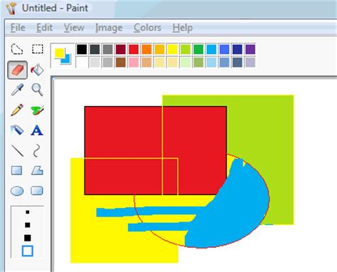 use the eraser as a color replacement tool ms paint trick