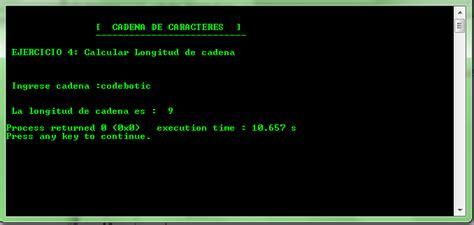 concatenar cadenas en c ejercicios con cadena de caracteres en c code botic
