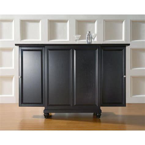 crosley cambridge expandable bar cabinet crosley cambridge black bar with expandable storage
