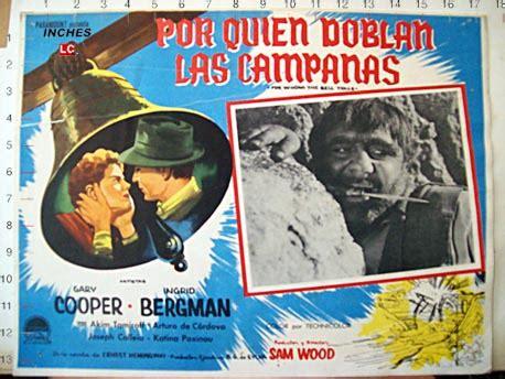 libro por quien doblan las quot por quien doblan las canas quot movie poster quot for whom the bell tolls quot movie poster
