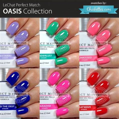 match gel colors lechat match oasis collection swatches by