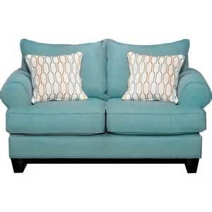 Turquoise Sofas Loveseats Tangerine 65 Quot Turquoise Upholstered Loveseat