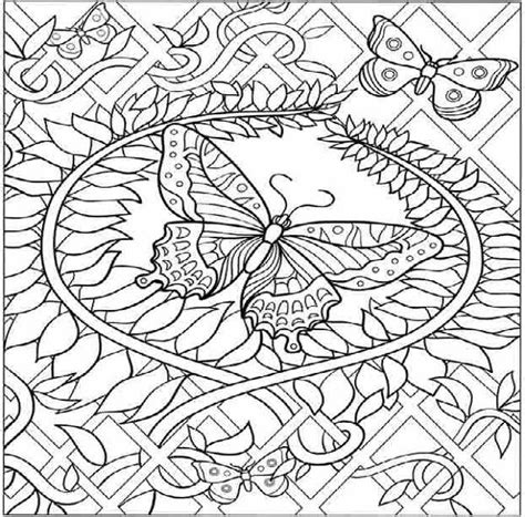 difficult butterfly coloring pages hard butterfly coloring pages coloring pages pinterest