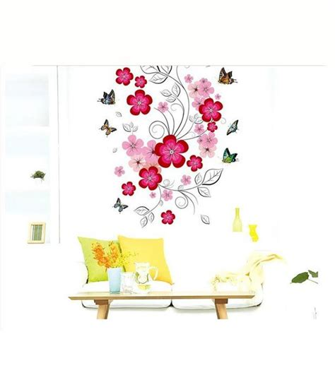 floral wall sticker decals arts 3d floral wall sticker buy decals arts 3d floral wall sticker at best price in