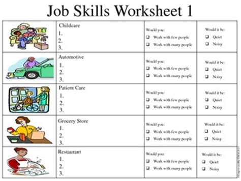 Workplace Readiness Skills Worksheets by Readiness Worksheets Tecnologialinstante