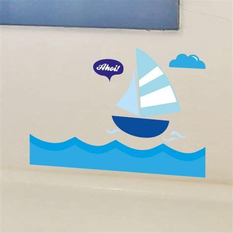 wandtattoo kinderzimmer segelboot wandsticker set a4 segelboot ahoi