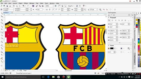 corel draw x7 trace tutorial corel draw x7 tracing logo barcelona youtube