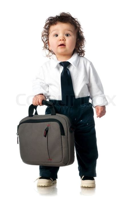 Supplier Baju Hmc Blouse Hmc Top child dressed in a business with a bag stock photo colourbox