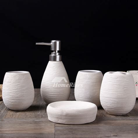 ceramic bathroom accessories sets 5 piece brushed ceramic bathroom accessories set