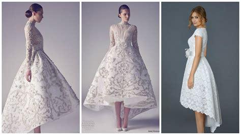 Asymmetric Wedding Dress by High Low Hemlines Top 23 Asymmetrical Wedding Dresses