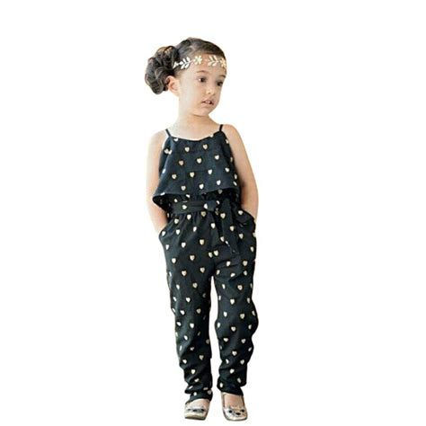 jumpsuit pattern for toddlers new fashion kids baby girls summer heart pattern jumpsuit