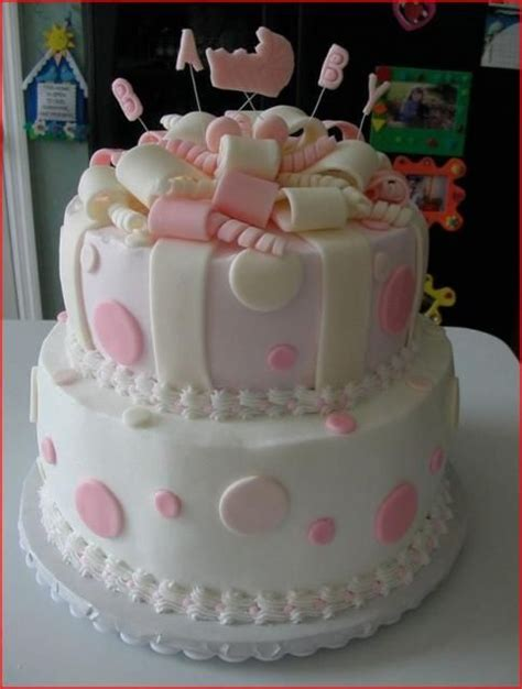 Pretty Baby Shower Cakes by Baby And Cakes On
