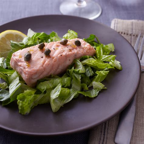 poached salmon recipes poached salmon with caper butter sauce recipe marcia