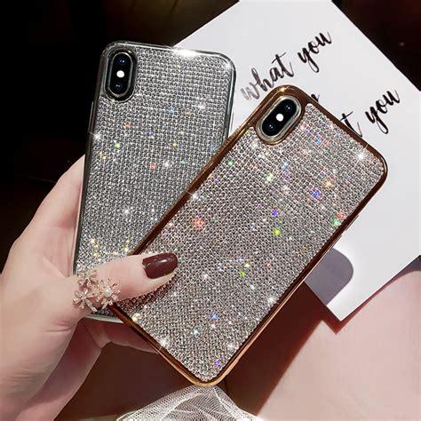glitter diamond silicone case  iphone  xr xs max