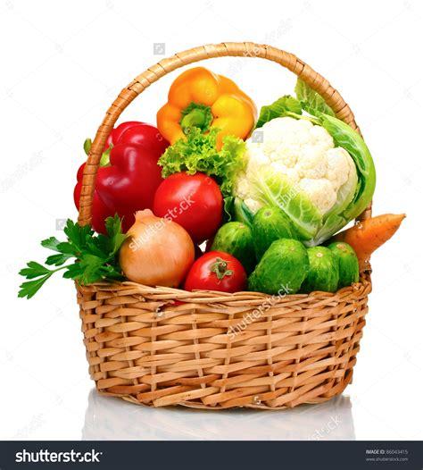 vegetables in vegetables in basket clipart 71