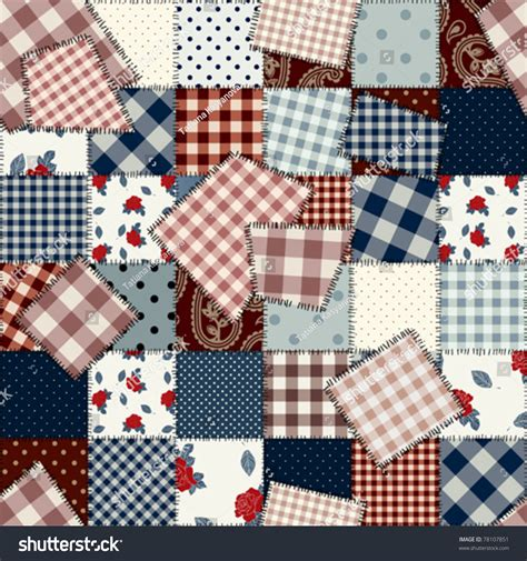 Patchwork Style - seamless background pattern will tile endlessly stock