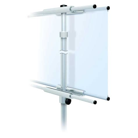 tall banner stand adjustable height with single or double sided graphics
