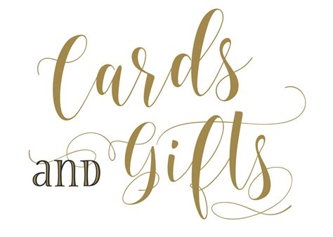 Cards And Gifts - wedding signs cards and gifts sign diy printable instant download