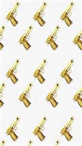 Golden Gun iPhone Wallpaper
