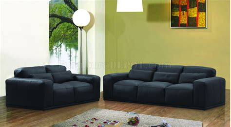 Black Leather Oversized Modern Living Room Set Oversized Living Room Sets