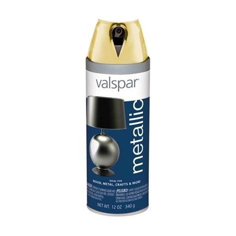 valspar brilliant metallic gold spray paint