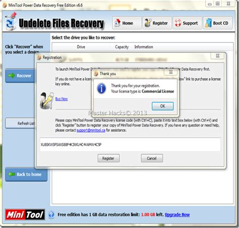 power data recovery full version blogspot master hacks minitool power data recovery 6 6 full
