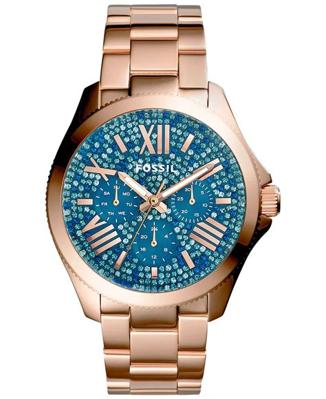 Fossil Cecille Rosegold Am4483 Jam Fossil Original 1 fossil cecile gold