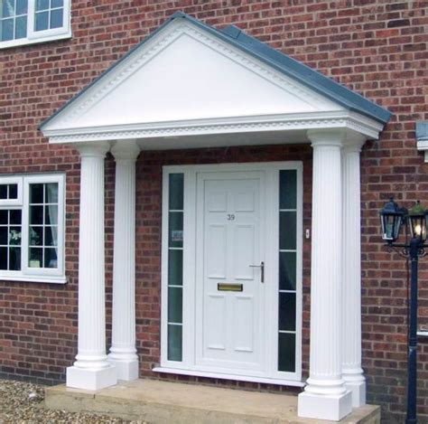simple portico for clapboard sided home designed by georgia front porch porticos with curb door portico front door portico plans front door simple
