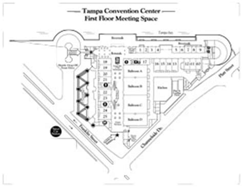 Tampa Convention Center Floor Plan by Map And Hours